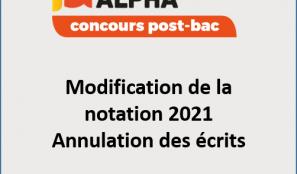 Concours post-bac 2021 – Modification de l'évaluation et annulation des écrits
